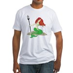 Mermaid with Red Hair Fitted T-Shirt