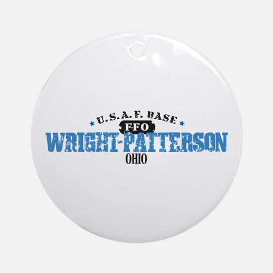 Wright Patterson Air Force Ornament (Round)
