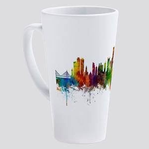 Boston Massachusetts Skyline 17 oz Latte Mug