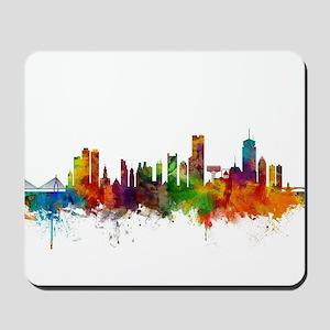 Boston Massachusetts Skyline Mousepad