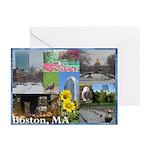 Boston, MA Photo Collage by Celeste Sheffey Greeti