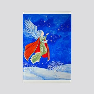 Winter Angel Rectangle Magnet