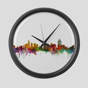 Cincinnati Ohio Skyline Large Wall Clock