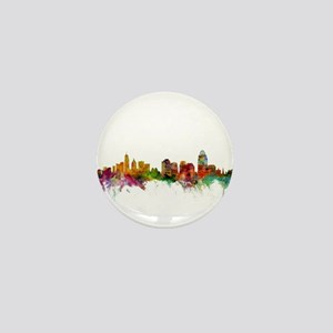 Cincinnati Ohio Skyline Mini Button