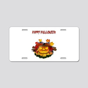 Autumn Leaves Pumpkin Aluminum License Plate
