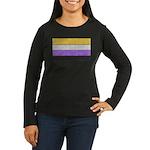 Non-Binary Denim Flag Long Sleeve T-Shirt