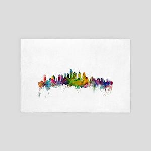 Philadelphia Pennsylvania Skyline 4' x 6' Rug