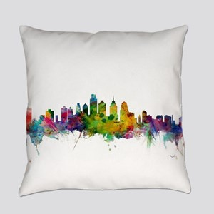 Philadelphia Pennsylvania Skyline Everyday Pillow