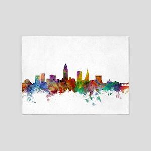 Cleveland Ohio Skyline 5'x7'Area Rug