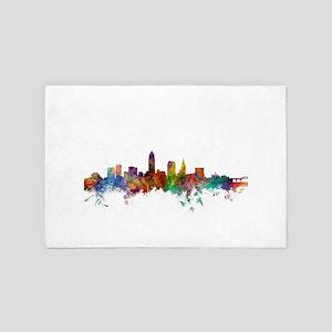 Cleveland Ohio Skyline 4' x 6' Rug