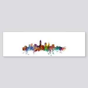 Cleveland Ohio Skyline Bumper Sticker