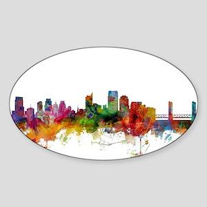 Sacramento California Skyline Sticker