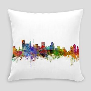 Baltimore Maryland Skyline Everyday Pillow