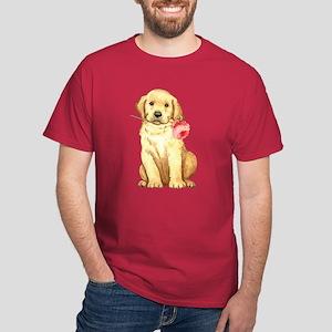 Yellow Lab Rose Dark T-Shirt