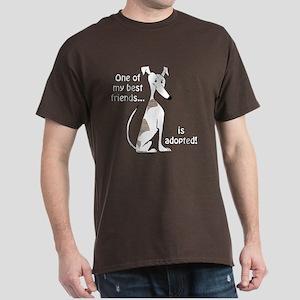 Adopted~White&Brindle Dark T-Shirt
