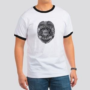 Support Our Police Ringer T