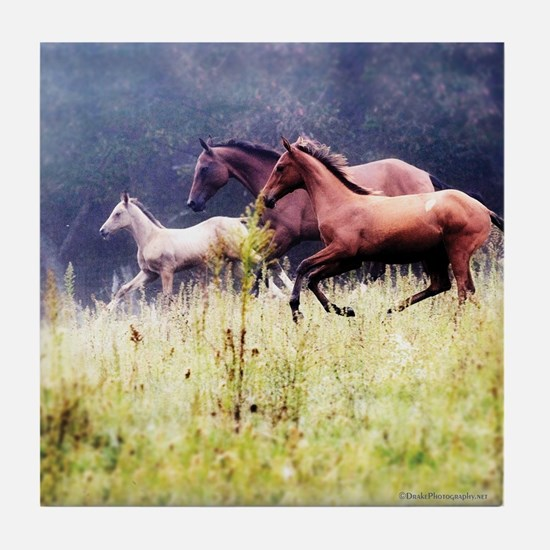Galloping Horses Tile Coaster