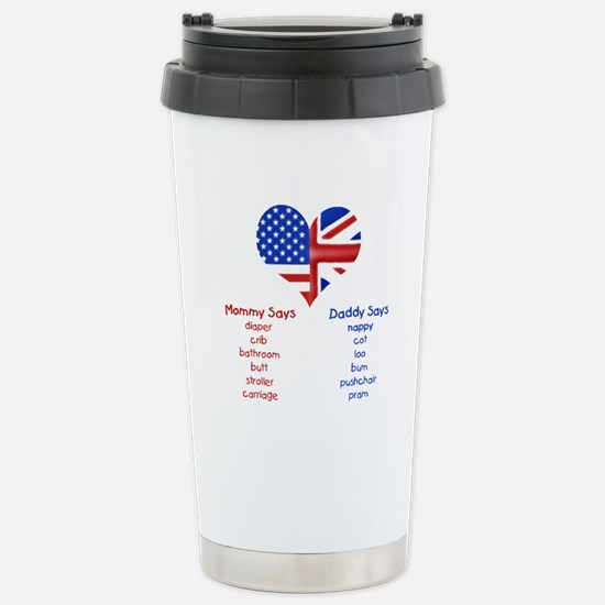British American Translations Stainless Steel Trav