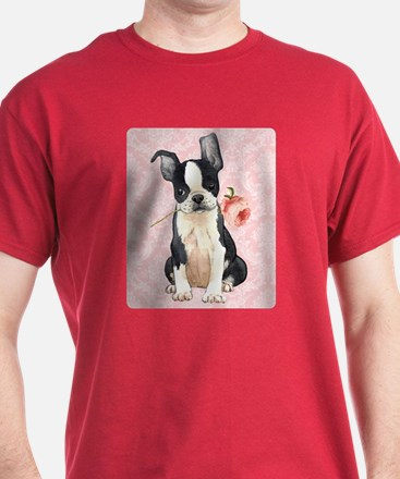 Boston Terrier Rose T-Shirt