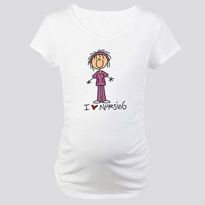 I Love Nursing Maternity T-Shirt