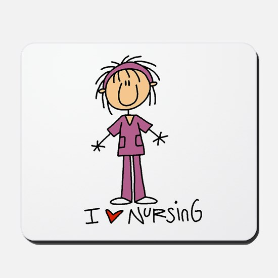 I Love Nursing Mousepad