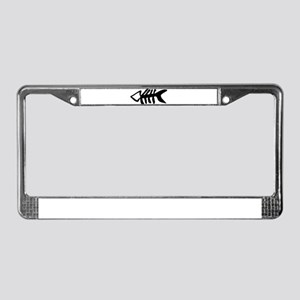 black fishbone symbol License Plate Frame