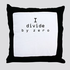 Divide by Zero Throw Pillow