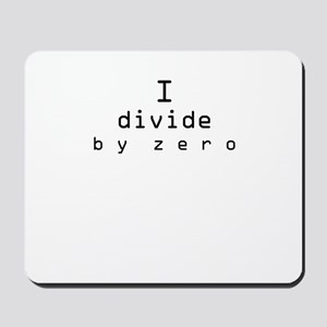Divide by Zero Mousepad