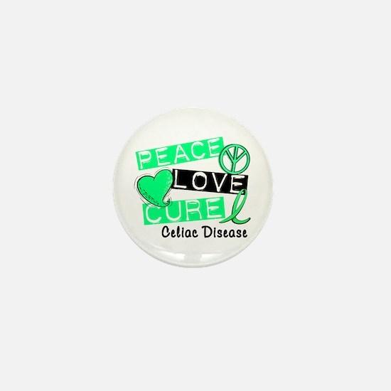 PEACE LOVE CURE Celiac Disease (L1) Mini Button