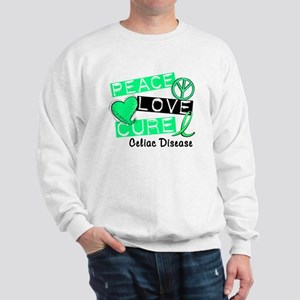 PEACE LOVE CURE Celiac Disease (L1) Sweatshirt