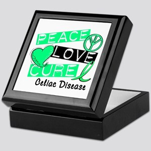PEACE LOVE CURE Celiac Disease (L1) Keepsake Box