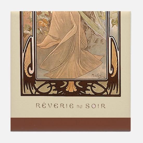 Alphonse Mucha 3 Tile Set -Reverie du Suir(3 of 3)