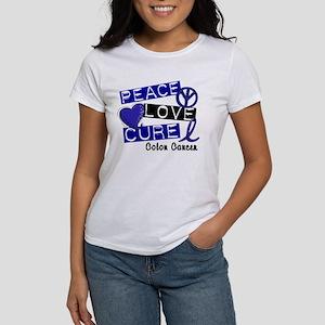 PEACE LOVE CURE Colon Cancer Women's T-Shirt