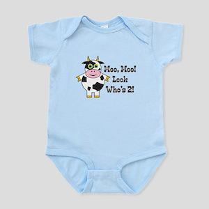Cute Cow 2nd B-day Infant Bodysuit