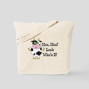Cute Cow 2nd B-day Tote Bag