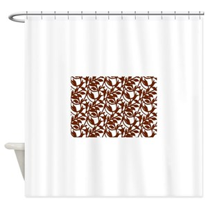 Brown Leaf Shower Curtains