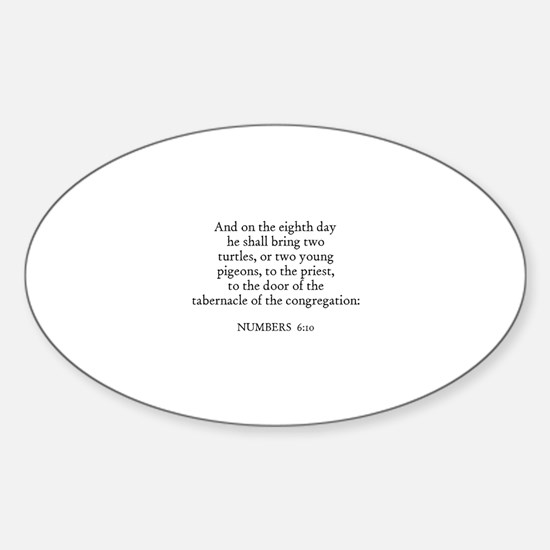 NUMBERS 6:10 Oval Decal