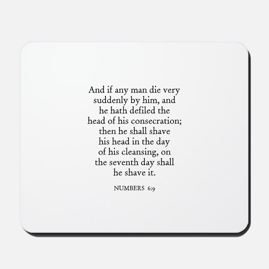 NUMBERS  6:9 Mousepad