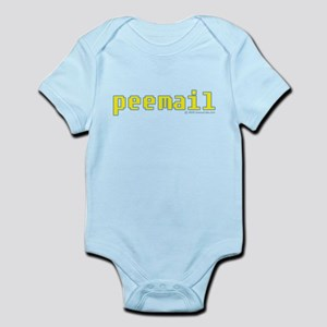 peemail yellow email Infant Bodysuit