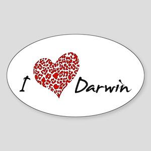 I Heart Darwin Sticker (Oval)