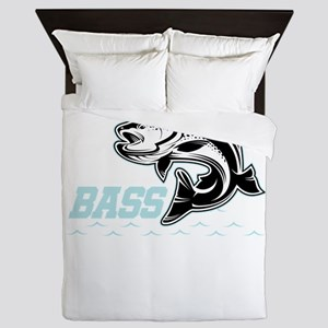 Awesome Fisherman All About That Bass Queen Duvet