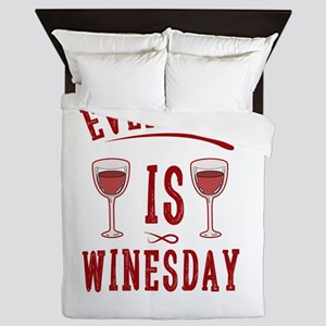 Everyday Is Winesday Wine Liquor Alcoh Queen Duvet