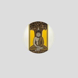 Buddha Under Bodhi Tree Mini Button