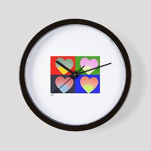 Hearts 4 Wall Clock