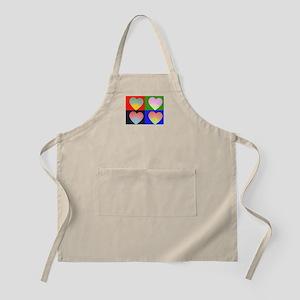Hearts 4 BBQ Apron