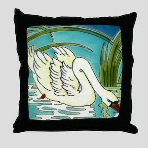 Swan Lake Art Big 18x18 Throw Pillow