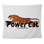 Power Cat Logo Wall Tapestry
