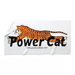 Power Cat Logo Beach Towel