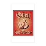 Obey The Decider Rectangle Sticker 10 pk)