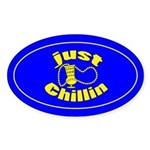 Just Chillin Oval Sticker (50 Pk)